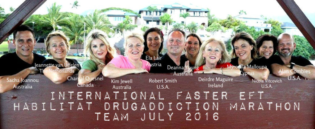 verslavingsbehandeling, team 2016, faster eft, drugaddiction marathon, habilitat inc., hawaii, Robert Smith, Jeannette van Uffelen, advanced level 4 practioner in Nederland